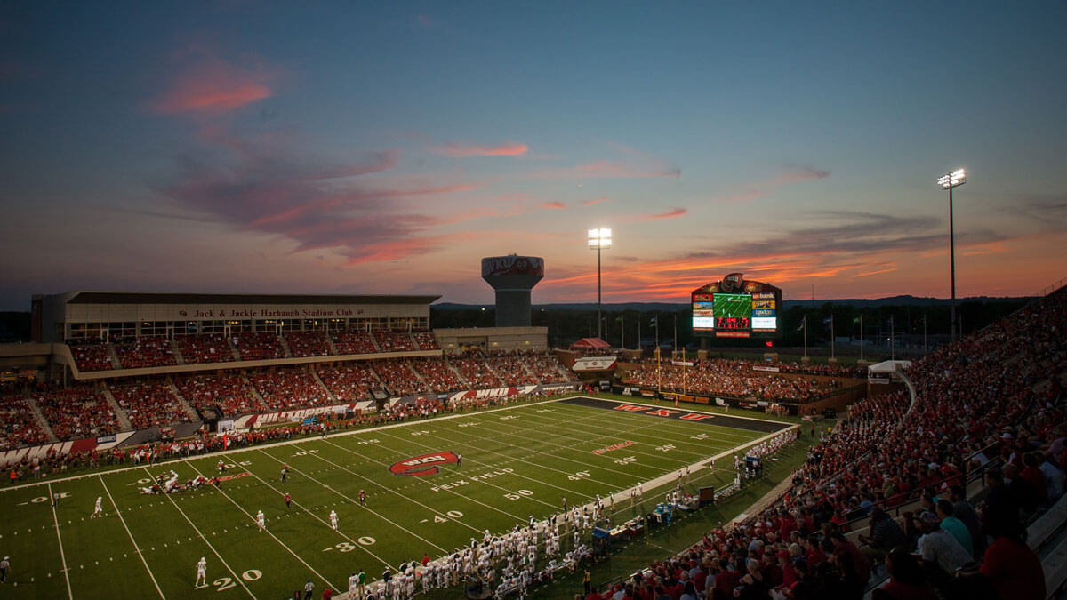 Smith Stadium - WKU wins over Rice