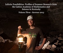 2013 book cover image features male researcher in cave
