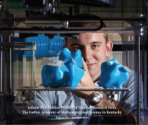 2016 book cover features male researcher with 3D printed objects