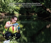 Book cover of a student doing outdoor aquatic research.