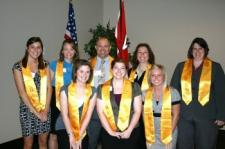Photo of Beta Gamma Sigma students.