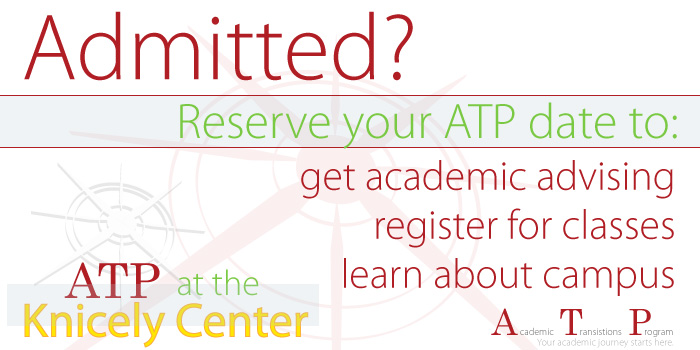 Admitted? Sign up for ATP.