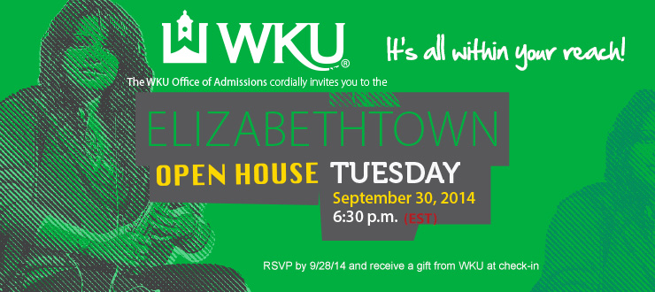 Elizabethtown Open House Tuesday, September 30, 2014 - 6:30 PM (EST) State Theatre