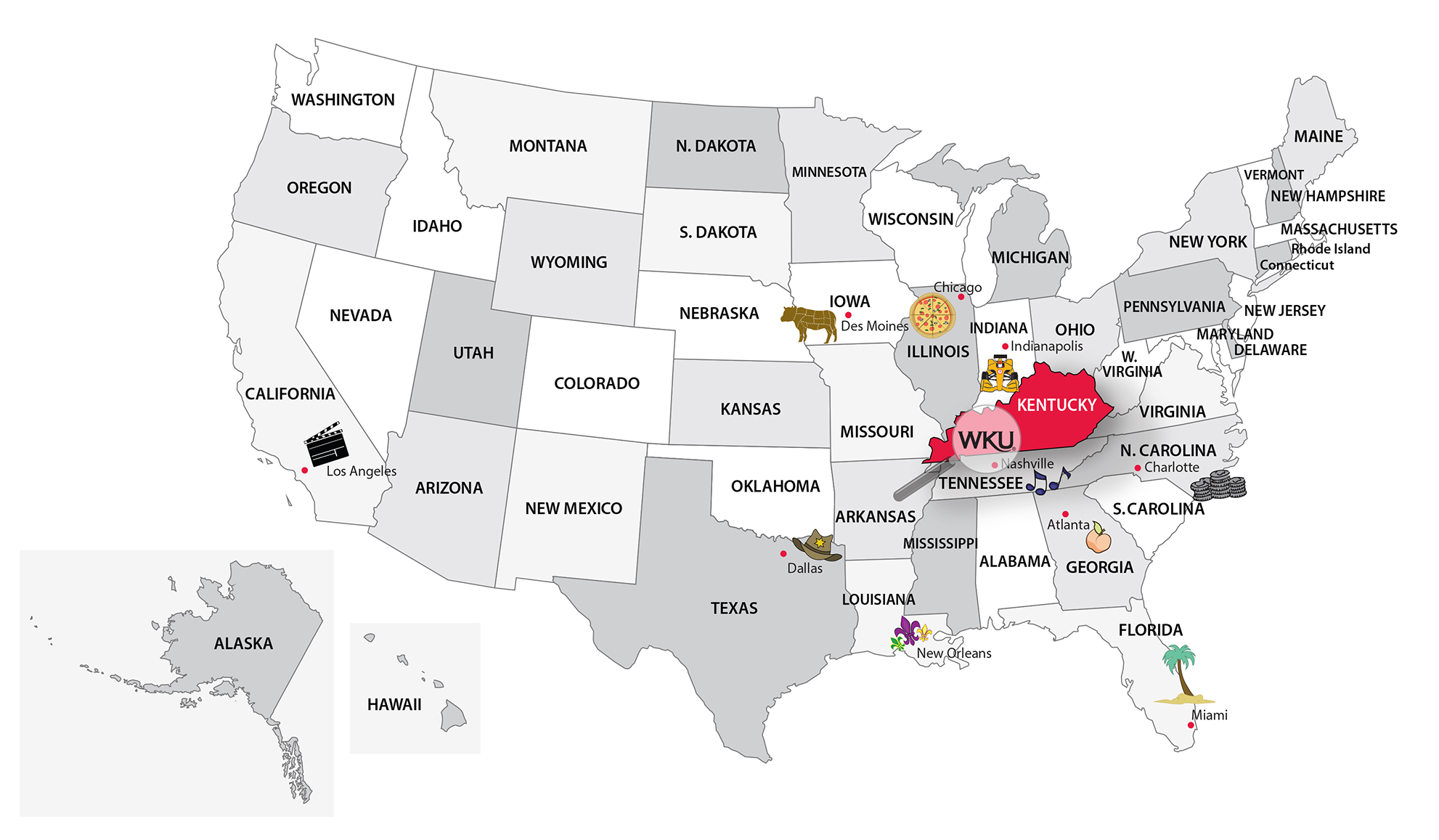 Where Is WKU Western Kentucky University - Map of western kentucky