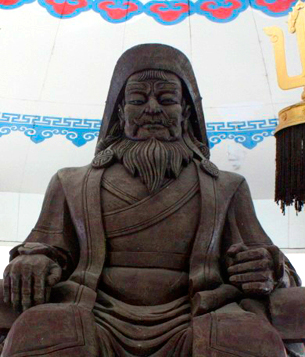 Seated statue in China.