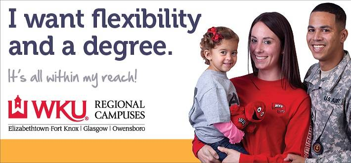 finish degree, regional campus, glasgow campus, owensboro campus, elizabethtown campus, WKU regional campuses