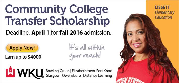 Community college transfer scholarships are available for Fall 2016. Apply now!