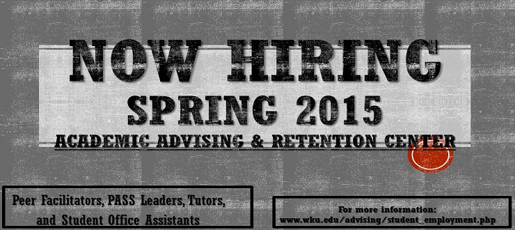 Click here for more information regarding student employment opportunities.