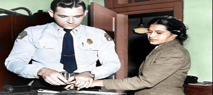 Rosa Parks getting Booked in Jail