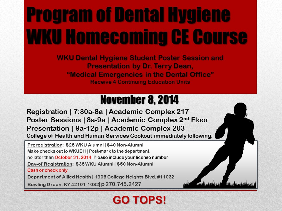 Dental Hygiene Homecoming CE Course