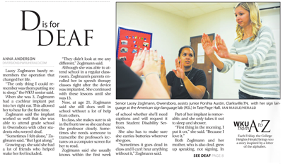 The Herald - D is for Deaf