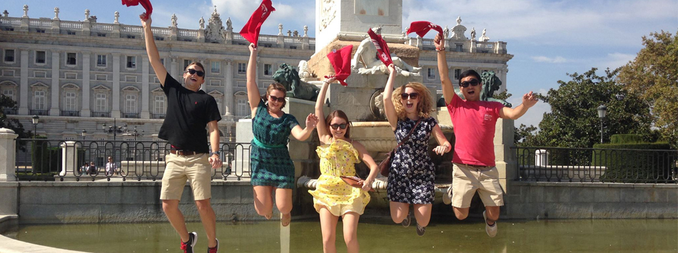 WKU students in Madrid.