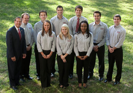 2011 photo of Gordon Ford College of Business Ambassadors.