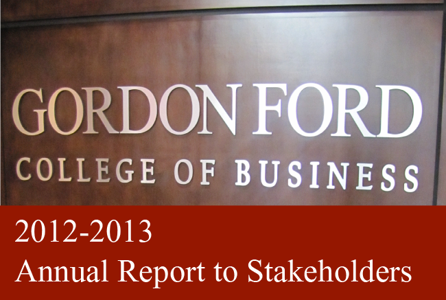2012-2013 Annual Report to Stakeholders