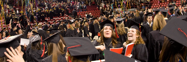 WKU students celebrating at Convocation.