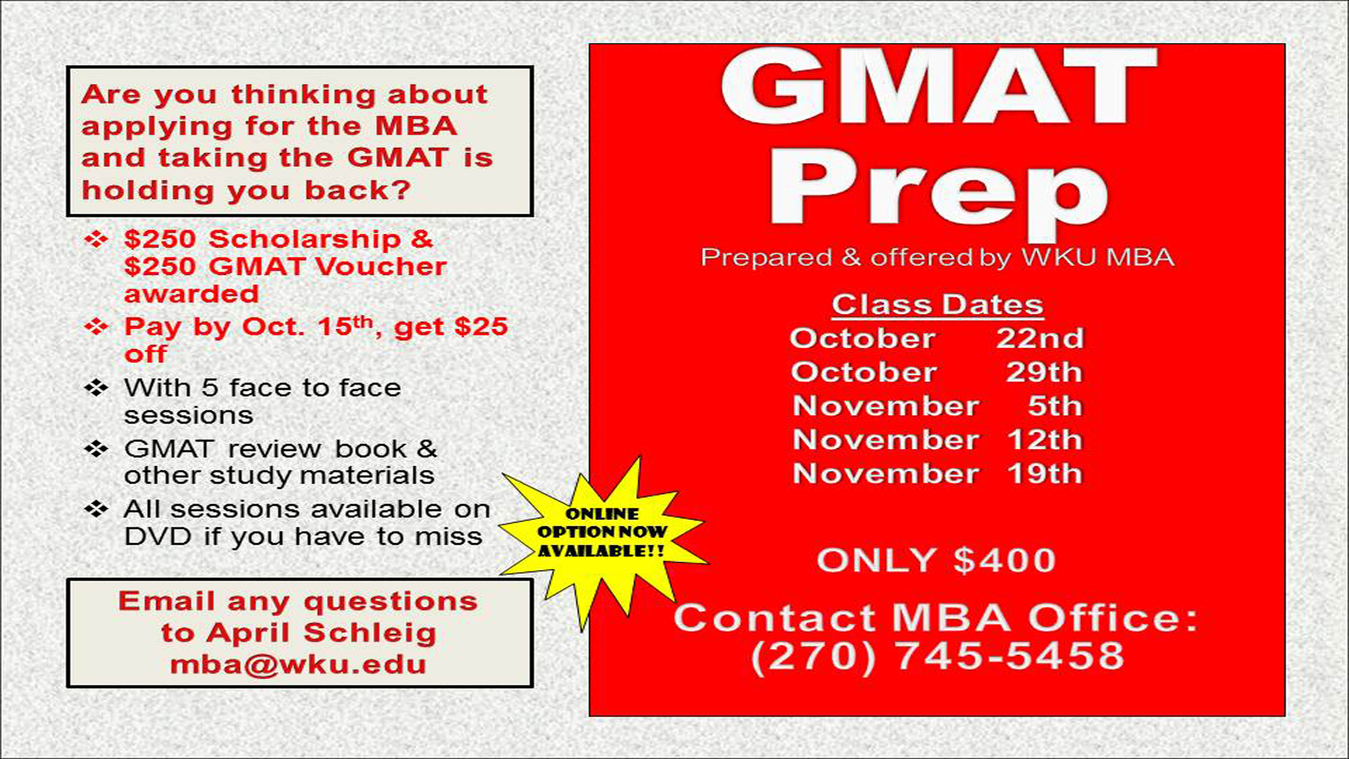 GMAT Career Prep
