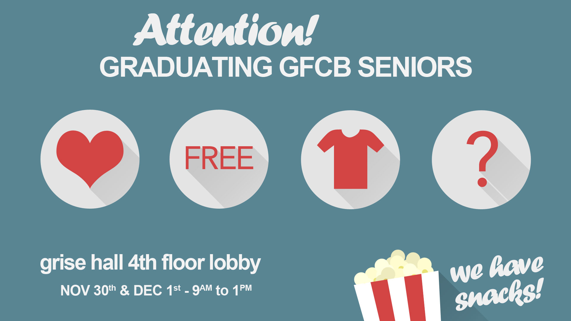 T-shirt giveaway for seniors.