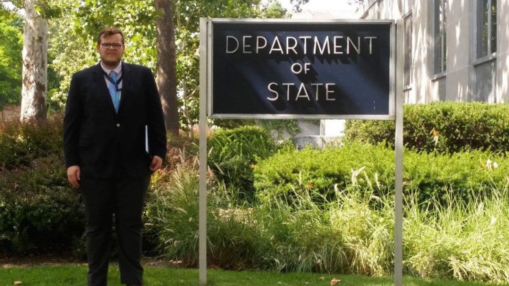 GFCB student Erick Murrer completed an internship with the U.S. State Department