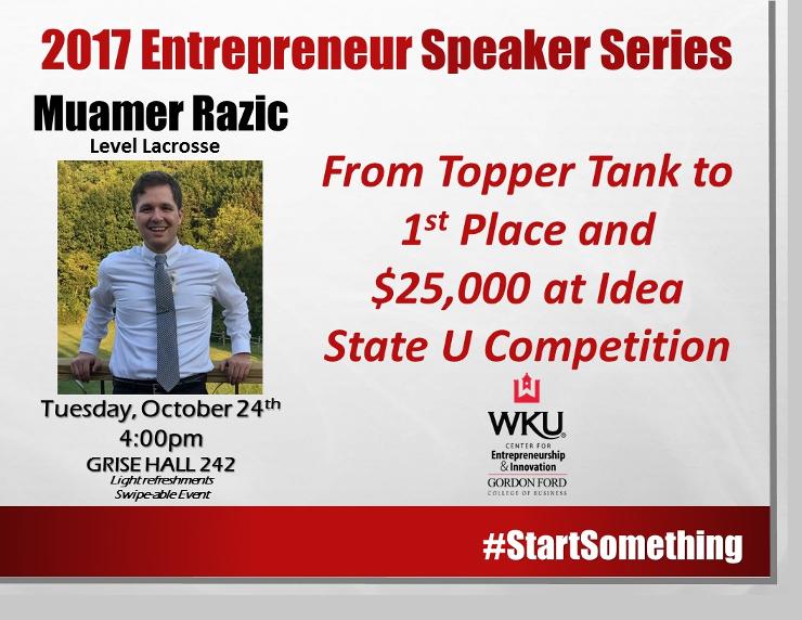 Entrepreneur Series - Muamer
