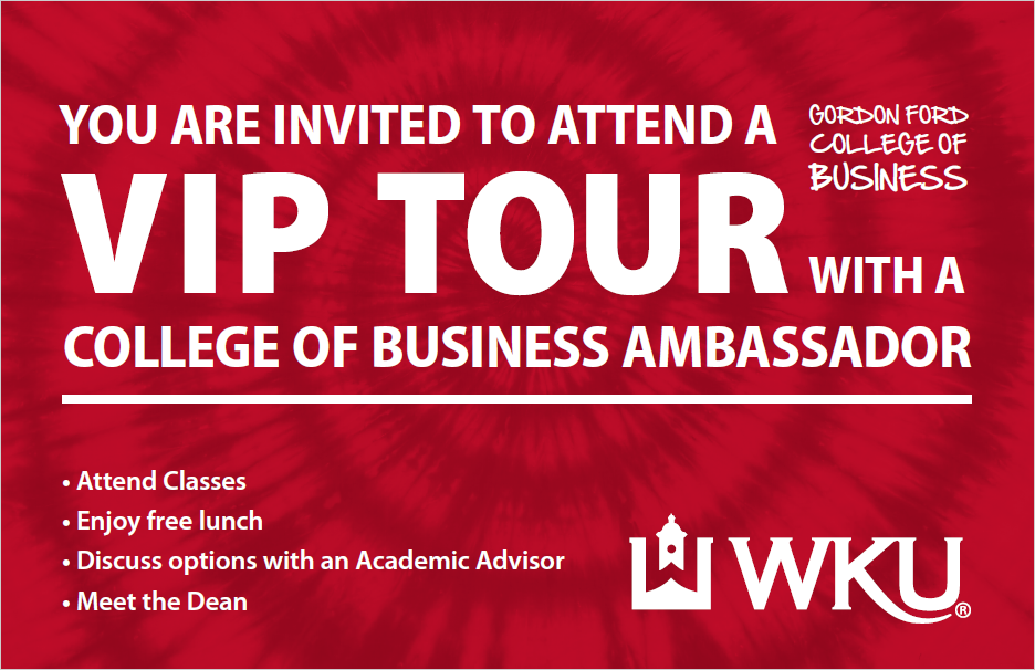 Student tours for the Gordon Ford College of Business, an