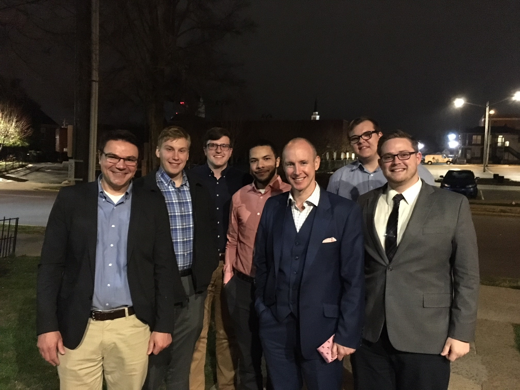 Daniel Hannan meeting with Dr. Alex Lebedinsky and a few members of the Capitalism Book Club