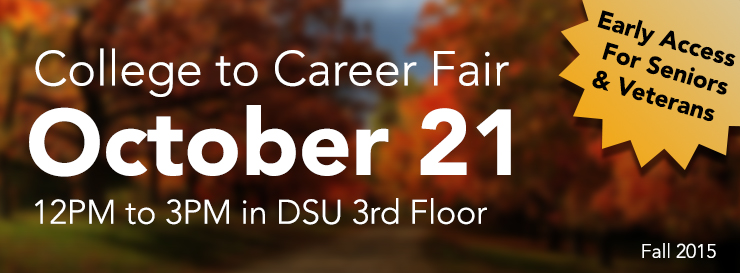 WKU's College to Career Fair is Oct 28 from 12pm to 3 pm
