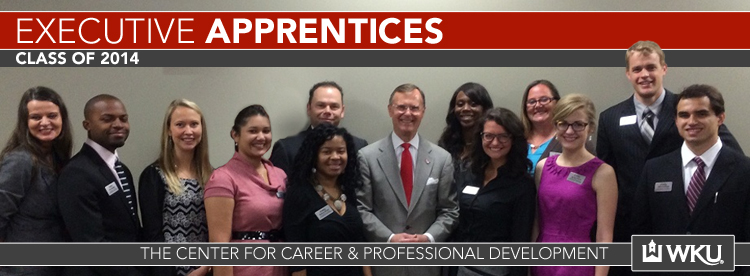 Executive Apprentices with President Ransdell