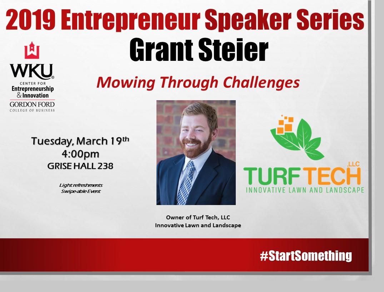 Speaker Series - Grant Steier