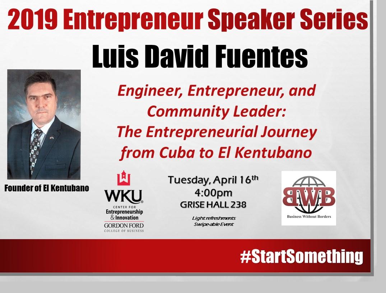 Speaker Series - Luis David Fuentes