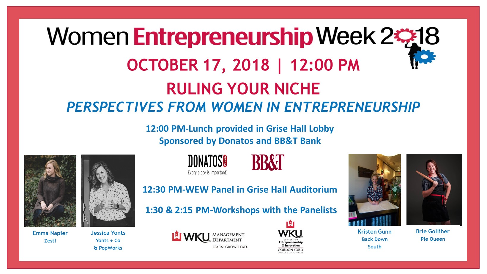 Women's Entrepreneurship Week 2018