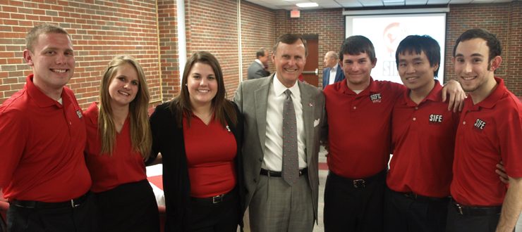 2011 WKU SIFE Presentation Team with President Ransdell