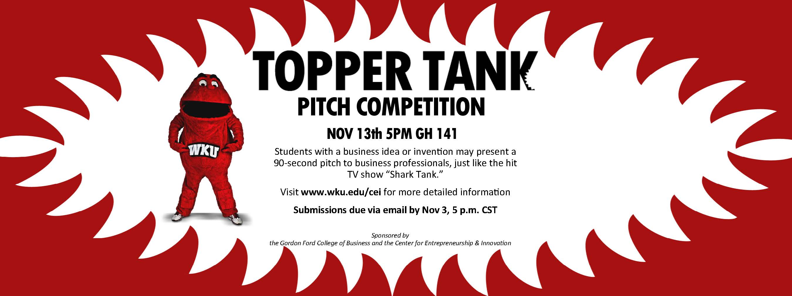 Topper Tank Pitch Competition