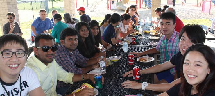McNally Picnic Attendees enjoying dinner
