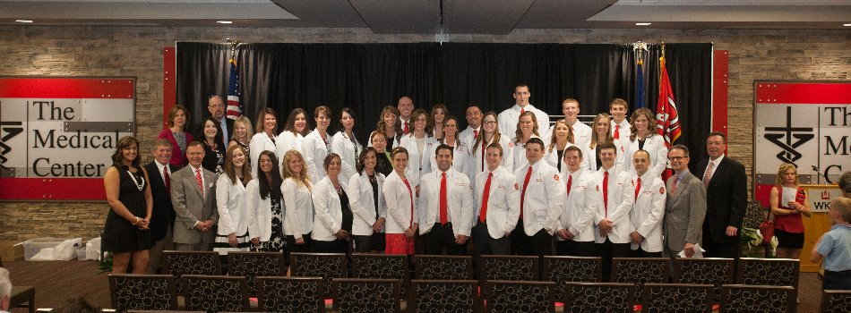 The Class of 2016 Doctor of Physical Therapy students at the WKU First Annual DPT White Coat Ceremony held on May 8, 2015.