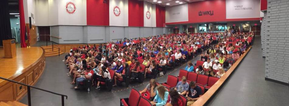Over 450 new WKU students majoring in CHHS programs attended a session during M.A.S.T.E.R. Plan in August.
