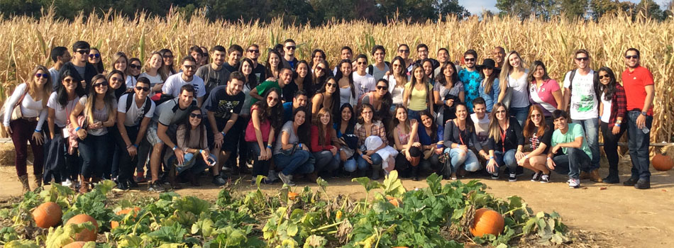 Brazilian students from the Dental Hygiene program in the Department of Allied Health visit Jackson's Orchard in Bowling Green, KY