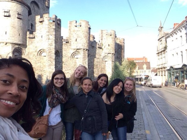 Kimberly Green with CSD Students in Gent