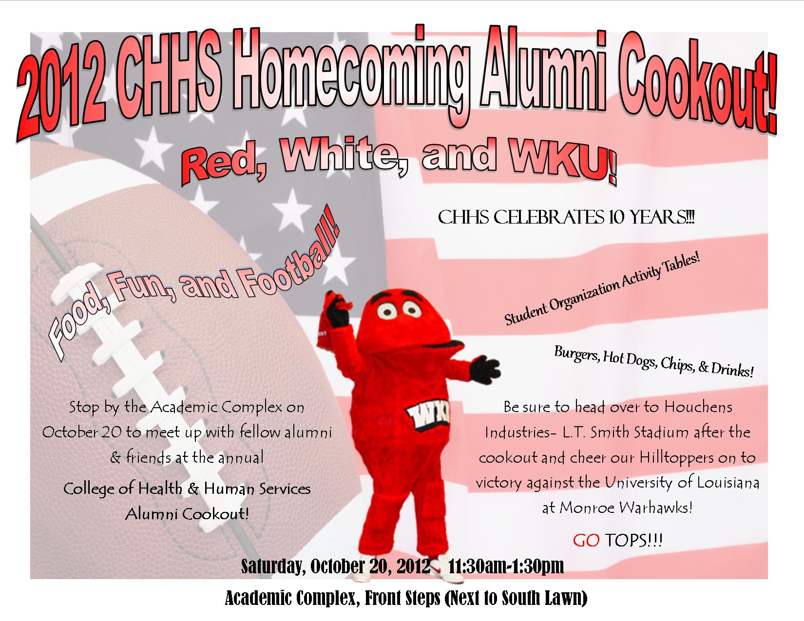 CHHS Homecoming Alumni Cookout