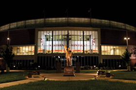 WKU Diddle Arena at night