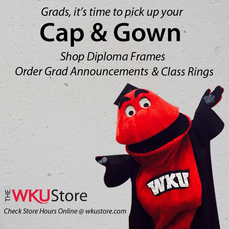 Pick up caps and gowns at WKU Store
