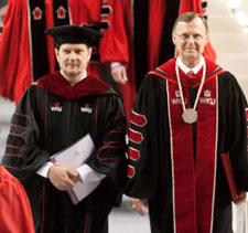 Provost and President at Commencement