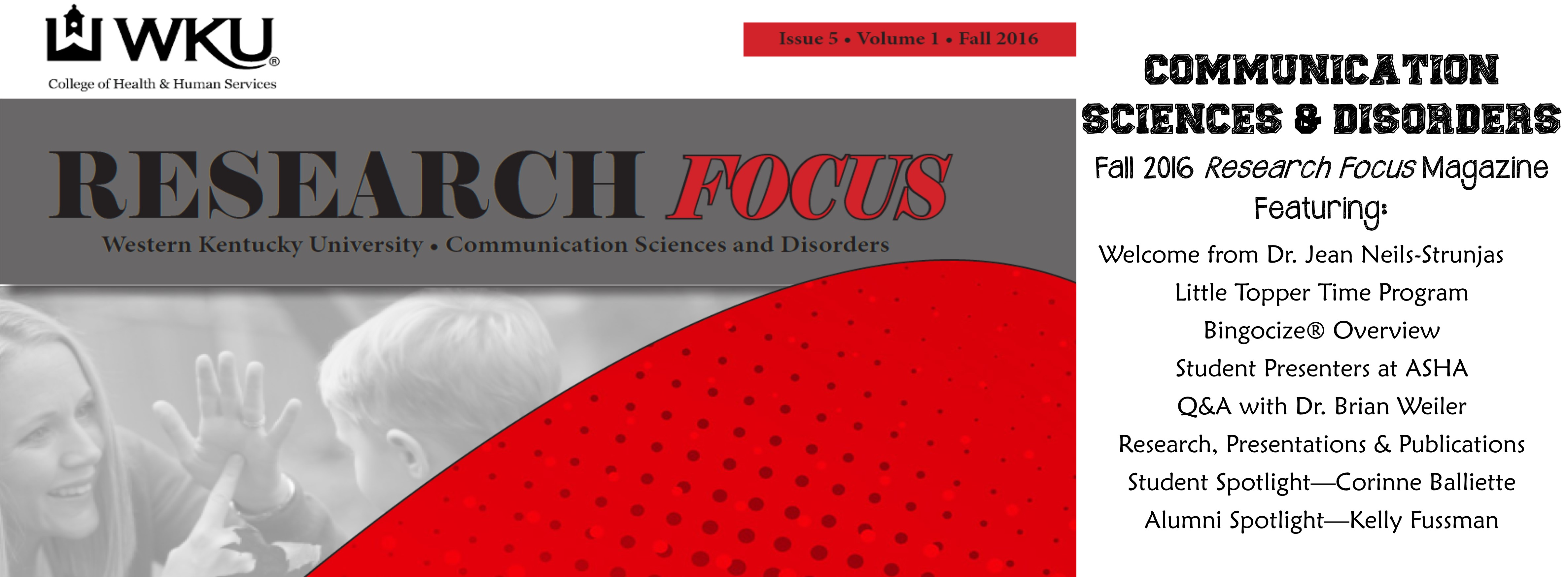 Fall 2016 Research Focus Magazine