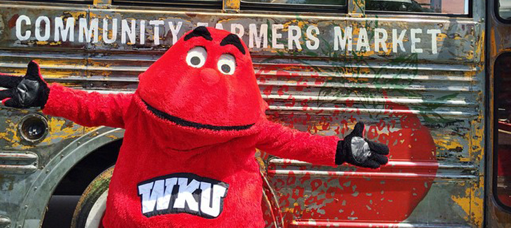 WKU has teamed up with the Community Farmers Market, where students may spend Big Red Dollars to purchase locally-produced goods.
