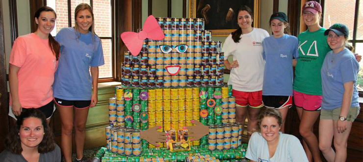 Canstruction® is a unique charity which hosts competitions, exhibitions and events showcasing colossal structures made entirely out of full cans of food. At the end of the event, all food is donated to local food pantries.