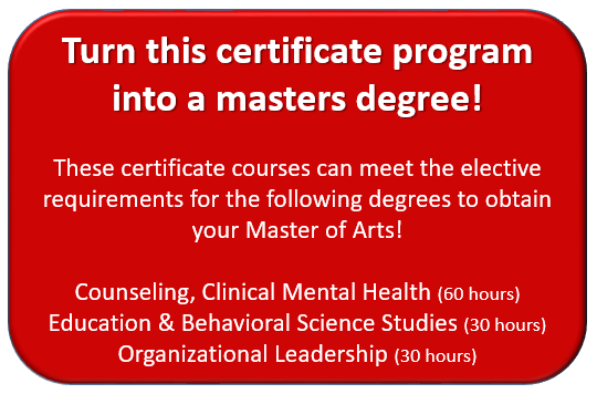 Turn this certificate program into a masters degree!