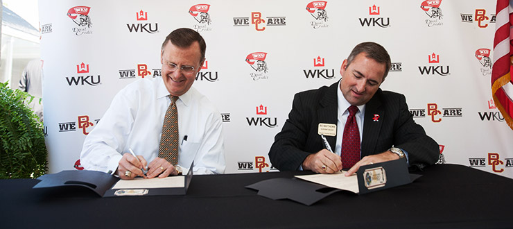 Newly created Capstone Scholars Program will allow students at Barren County High to earn up to 19 college semester hours of dual credit at WKU beginning in spring 2013.
