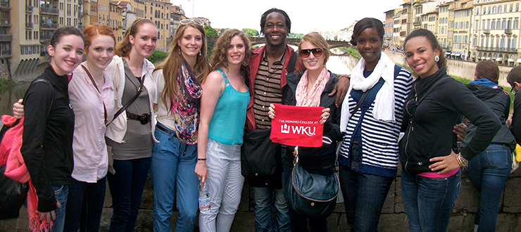 WKU Faculty-Led Study Abroad students in Italy
