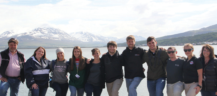WKU Faculty-Led Study Abroad students in Iceland