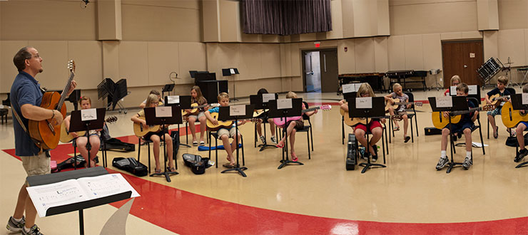 WKU Dept. of Music and WKU Continuing Education hosted the Big Red Gig Youth Guitar Camp in June.