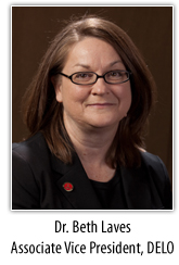 Dr. Beth Laves, Associate Vice President, DELO
